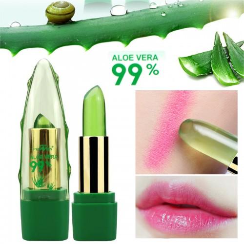 New Batom 99 ALOE VERA Natural Temperature Change Color Jelly Lipstick Long Lasting Moistourizing Lip