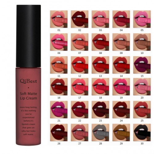 Qibest Brand Lips Beauty Makup Pigment Waterproof Lipgloss Long Lasting Black Velvet Matte Nude Lipstick Red.jpg 640x640