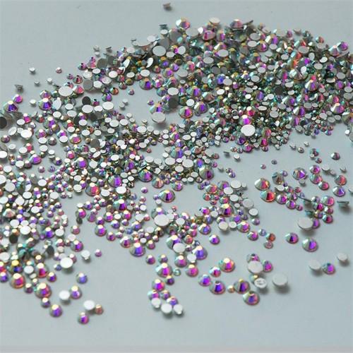 1000PCS Pack Crystal Clear Rhinestones Nail 3D