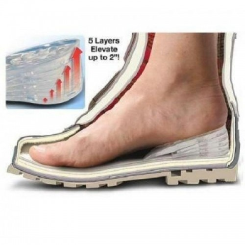 Taller Insole Silicone Gel Inserts Lift Shoe Pads Increase Height Foot Massage Comfortable