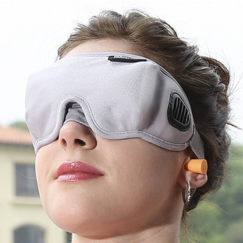High Grade Fabric EyeShade Portable Sleeping Eye Mask Eyepatch Padded Shade Cover Eye Mask Night Rest