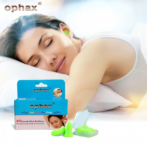 OPHAX 4pcs Upgraded Version Soft Foam Ear Plugs Anti Noise Snoring Earplugs For For Sleeping Traveling