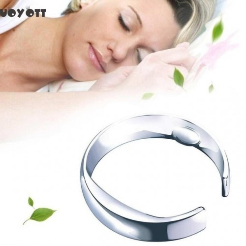 Reflexology Therapy Acupressure Anti Snore Ring Treatment Against Snoring Device Snore Stopper Finger Ring Sleeping Aid