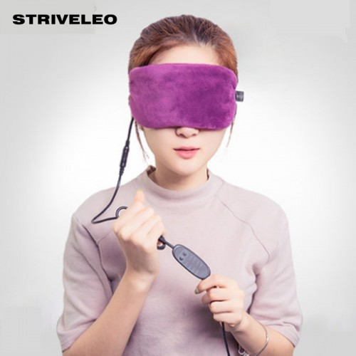 USB Heating Lavender Steam Eyeshade Compress Cover Shade Eye Patch Travel Eye Mask Women Men