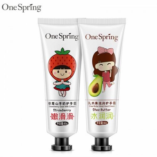2Pcs lot Strawberry Goat Milk Fruit Hand Cream Whitening Firming Skin Moisturizing Exfoliate Moisture Cute Mini