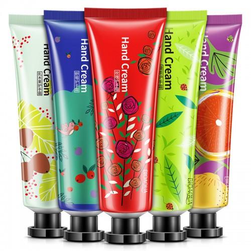 5 Pieces Lot of New Brand Hand Skin Care Handcream for Women Men Sweet Fruit Flower Smell Whitening Moisturizing Hand Cream