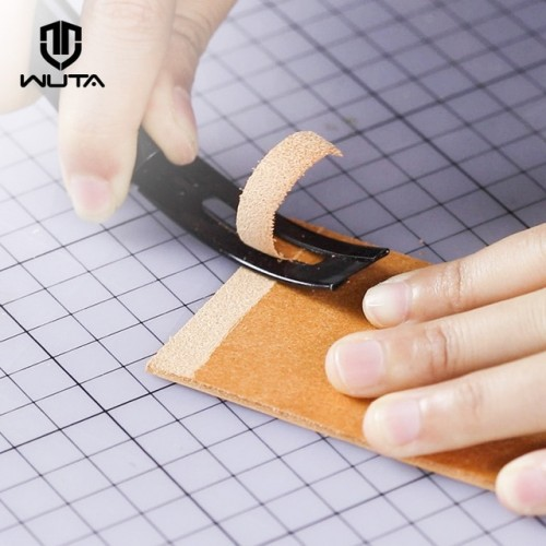 WUTA Black Sharp Leather Skiving Knife Tools DIY Leather Craft Safety Cutting Knife Cut off Thin