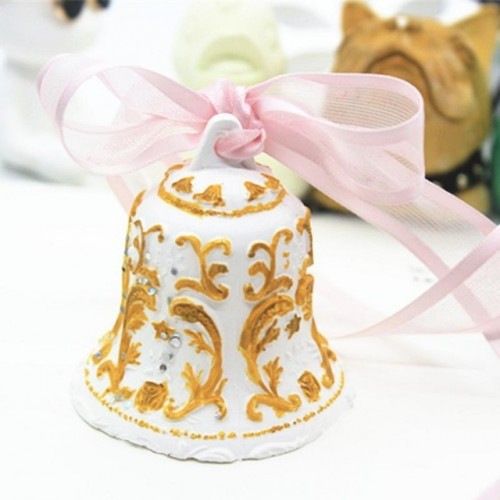 3D Silicone Molds Bells Soap Mold Silicone Soap Molds Bells Silica Gel Christmas Bells Moulds Candle