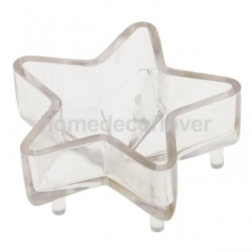 3D Star Shaped Plastic Clear Candle Mold Mould DIY Candle Making Craft Tool
