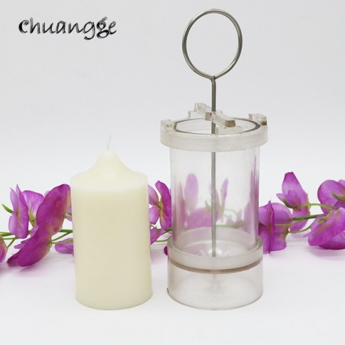 CHUANGGE Pillar Candle Mold Handmade Tools Diy Candle Making Church Spire Shaped Cylindrical Polycarbonate Plastic Candle
