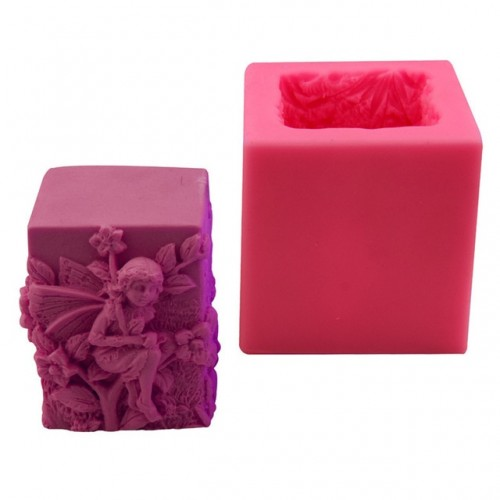 Flower Silicone Wax Candle molds Fairy design DIY Candle Making Mold Silicone Candle mold