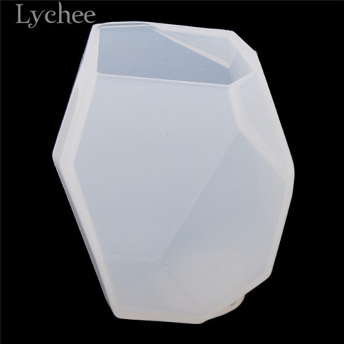 Lychee Polygon White Candle Silicone Mold 3D Candle Moulds DIY Handmade Soap Making Crafts Supplies