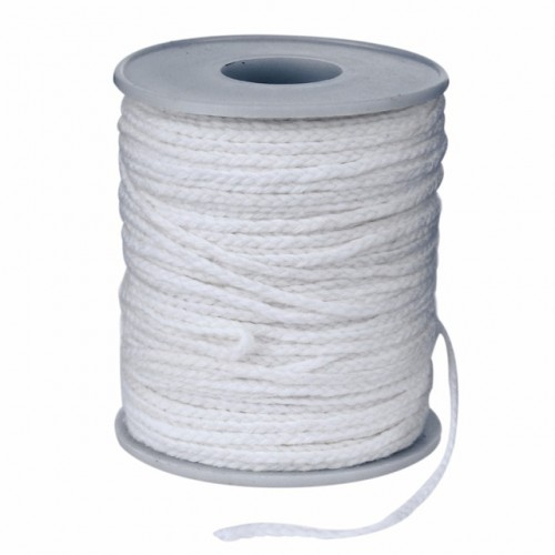New Spool Of Cotton Square Braid Candle Wicks Wick Core 61m X 2 5mm For Candle