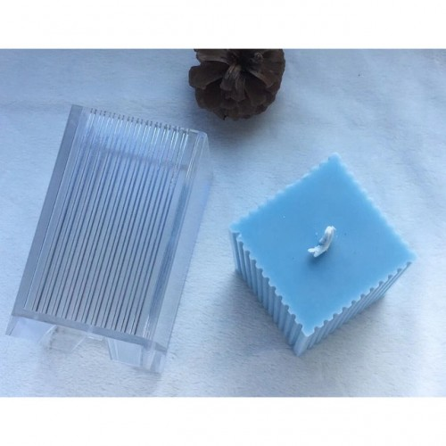 Sawtooth Square Shaped Plastic Candle Making Moulds DIY Handmade Aromatherapy Candle Mold Scented Candle Dried Flower