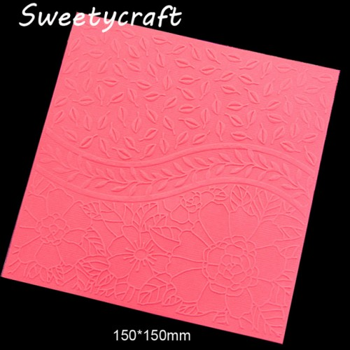 15 15cm Flower Leaves Lace Textured Embossing Folder Plastic Card Making Stamps Scrapbooking Paper Craft Supplies