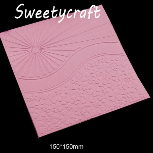 15 15cm Sun 4PC Leaves grass Textured Embossing Folder Plastic Card Making Stamp Scrapbooking Paper Craft
