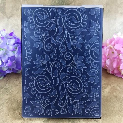 Cute Leaves Item01 DIY Scrapbook Bump Plastic Embossing Folder For Album Card Tool Plastic Template Embossing