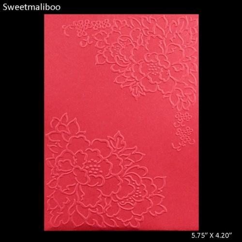 Flora Lace embossing folder plastic dies scrapbooking gaufrage plastique stencils for diy paper card making