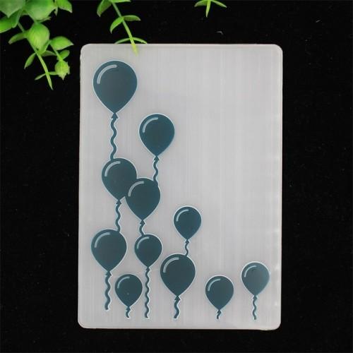 KLJUYP Balloons Plastic Embossing Folders for DIY Scrapbooking Paper Craft Card Making Decoration Supplies 114