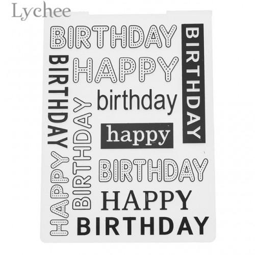 Lychee Flower Leaves Birthday Plastic Embossing Folder Card Album Template Tool DIY Scrapbooking Decoration Crafts
