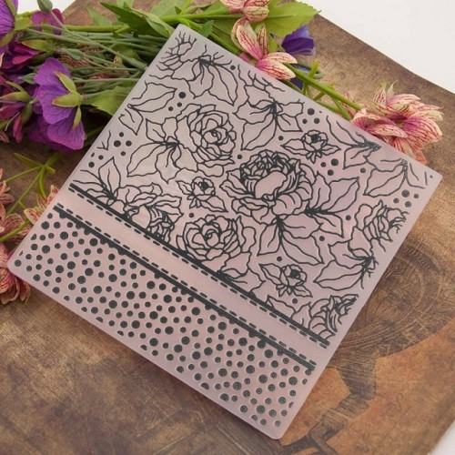 NCraft Embossing folders EM012 Plastic Embossing Folder For Scrapbooking DIY Photo Album Card