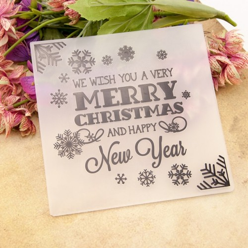 NCraft Embossing folders EM062 Plastic Embossing Folder For Scrapbooking DIY Photo Album Card Merry Christmas New