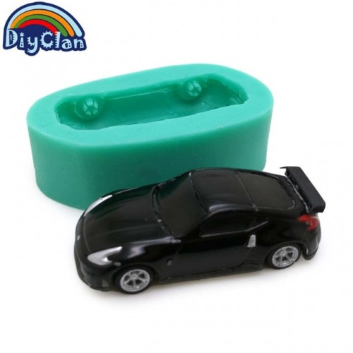 2 style simulation Sports car silicone molds for cake decorating chocolate fondant children toy mould resin