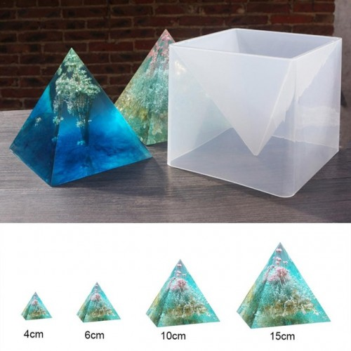 3D Super Pyramid Silicone Mold 15cm DIY Handmade Ornament Decoration Craft Mould Epoxy Color Fine Color