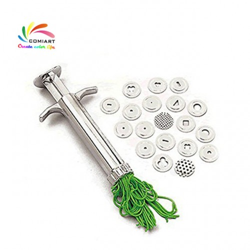 COMIART Pottery Clay Extruders Polymer Clay Fimo Extruder Craft Gun Sculpting Tools Cake Extruder Fondant Tool