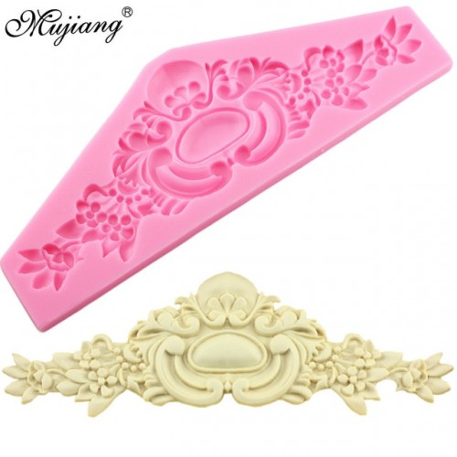 European Crown Relief Silicone Mold Baking Flower Lace Chocolate Molds Wedding Fondant Decorating Tools Candy Fimo