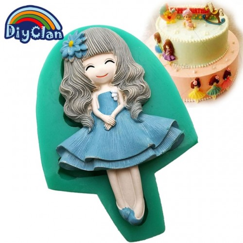 New 12 style pretty girl fondant molds cake decorating tools silicone moulds for chocolate polymer clay.