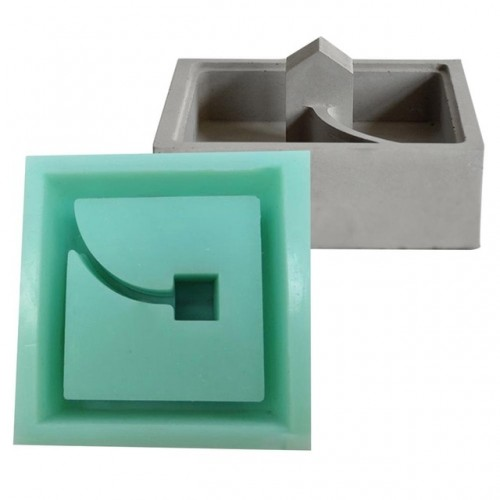 New Concrete Molds Moss Mini Small House Muti meat Flower Planter Mould Desktop Decoration Cement
