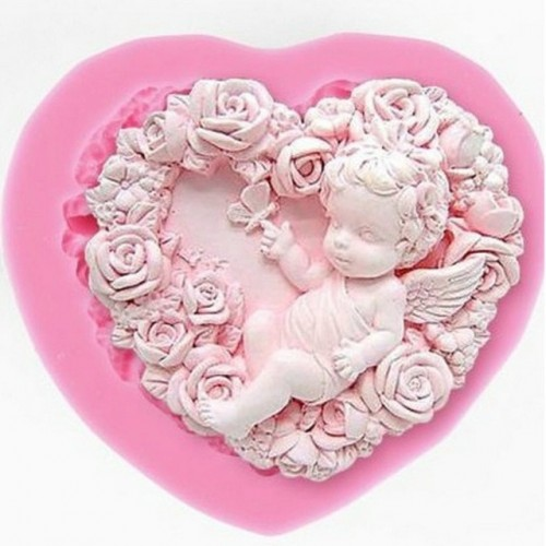 Rose Angel Craft Art Silicone Soap Mold 3D Craft Molds DIY Fimo Resin Clay Candle Molds
