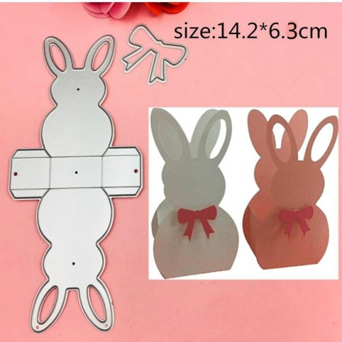 3D Rabbit Frame gate box Metal Cutting Dies Stencils for DIY Scrapbooking Stamp photo album Decorative