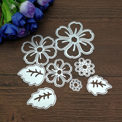 8pc flower spring leaf METAL CUTTING DIES Stencil Scrapbooking Photo Album Card Paper Embossing Craft DIY