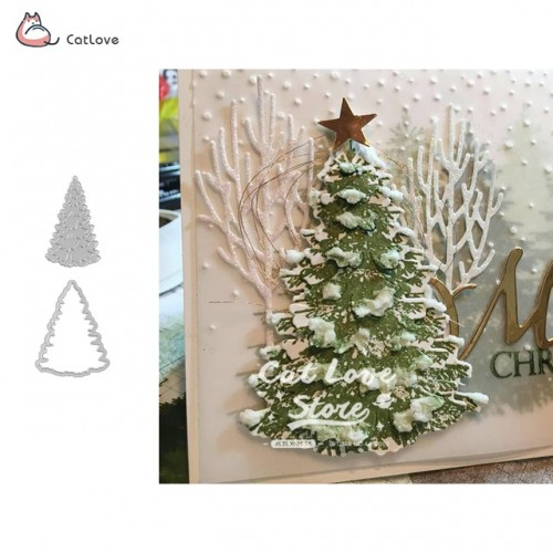 Christmas Tree Metal Cutting Dies Christmas Stencil For DIY Scrapbooking Paper Card Decorative Craft Embossing Die