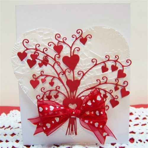 DiyArts Heart Bouquet Metal Cutting Dies For Scrapbooking Card Making Photo Album Embossing Crafts Diecut Christmas
