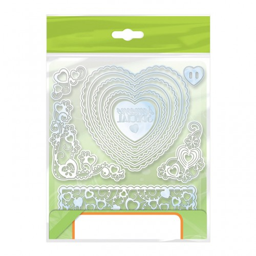 Julyarts Heart Flower Frame Metal Cutting Dies New for Scrapbooking DIY Paper Cards Photo Album