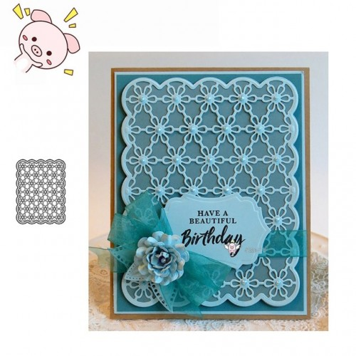 PP Craft metal cutting dies cut die mold Small flower frame Scarpbook paper craft knife mould