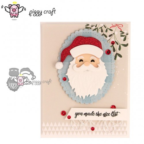 Piggy Craft metal cutting dies cut die mold 5Pcs new santa Claus Scrapbook paper craft knife