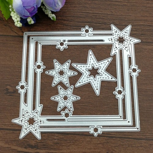 Star Frame Carbon steel Die Cutting Dies Scrapbooking Embossing Dies Cut Stencils DIY Decoration metal Paper