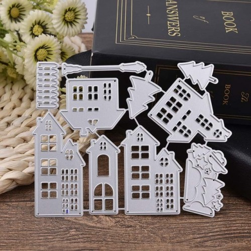 cutting dies Christmas house Scrapbooking Dies Metal Craft Die Cut Stamps Embossing New Card Making