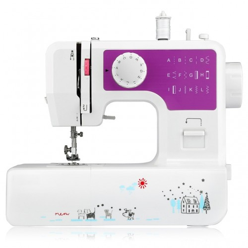 3 Colors Household Mini Sewing Machine with 12 Different Stitches EU US Plug Adjustable Speed USB