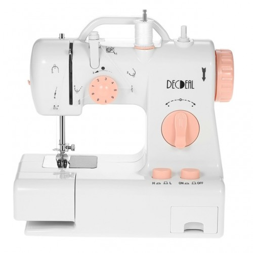 Multifunctional Electric Household Sewing Machine Knitting Machine 2 Speed Adjustment with Light Foot Pedal US UK