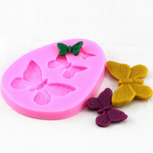 3 butterfly Series Shaped Sugarcraft Soap Mold 3D Fondant Chocolate Cake Mold For Candy Cookies DIY
