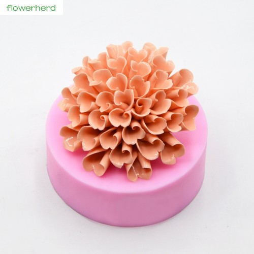 Hydrange Silicone Soap Mold Solid Flower 3D Soap Mold Handmade Fragrance Soap Fondant Cake Decorating Tools