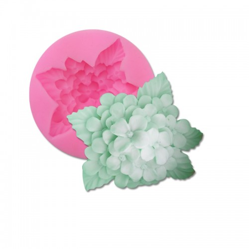Hydrangea Flower Silicone Soap Molds For Soap Making Handmade Resin Form Mould Fondant Cake Decorating Tools