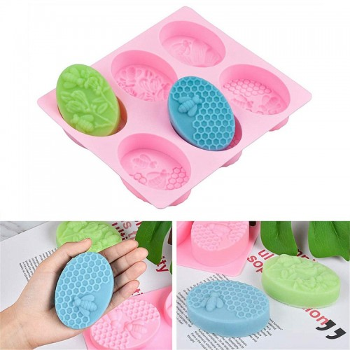 Soap Molds Silica Gel Bee Shape Handmade Soap Mold Portable Unique Soap Making Tools