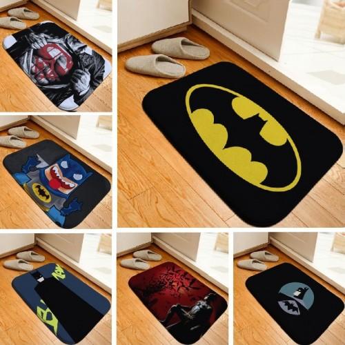 Bath Mat Hero Batman Printed Rug Toilet Carpet Flannel Non Slip Bath Mat Absorbent Bathroom Mat
