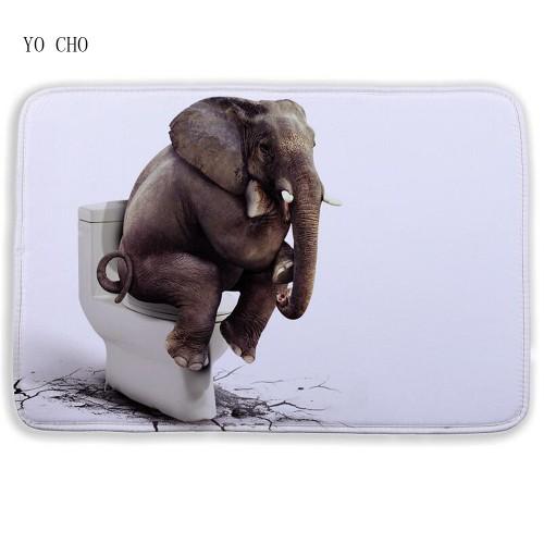 Cartoon 3D bath mat Animal Elephant lion bathroom mat Floor Mats